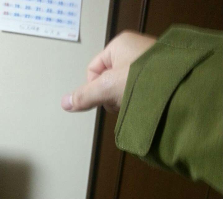 レインウェアの袖