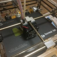 3Dプリンタ造形開始画像
